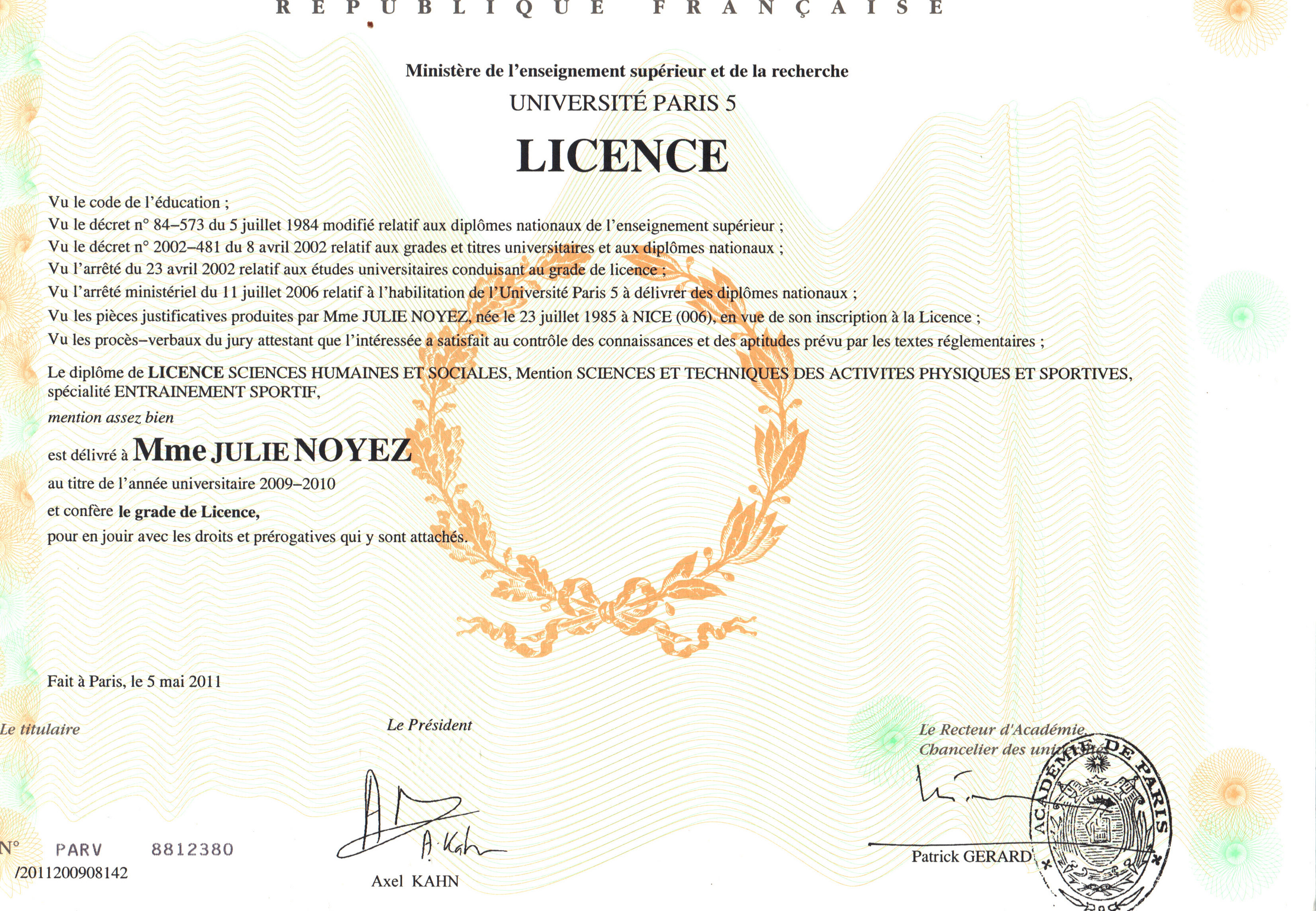 diplome universitaire licence